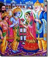 Celebrating Sita and Rama's marriage