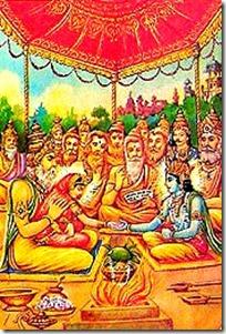 Sita and Rama in wedding mandapa