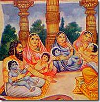 King Dasharatha and family