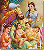 King Dasharatha with family