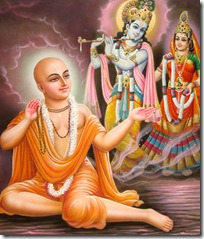 Lord Chaitanya chanting the holy names