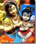 Krishna with mother Yashoda