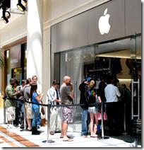 Line outside apple store
