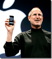 Steve Jobs presenting iPhone