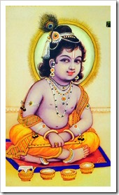 [Lord Krishna as a child]