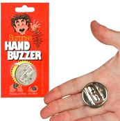 [Hand buzzer prank]