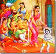 [Dasharatha with family]