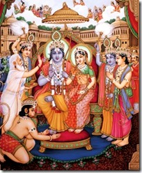 [Celebrating Rama's coronation in Ayodhya]