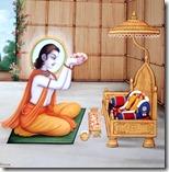 [Bharata meditating on Rama]