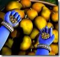 [Krishna holding grains]