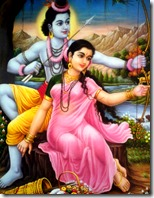 [Sita and Rama in the forest]