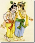 [BG Sharma painting of Balarama and Krishna]