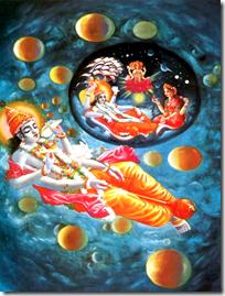 [Krishna creating]