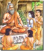 [Rama and brothers in Gurukula]