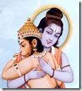 [Rama embracing Hanuman]