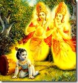 [Krishna liberating Nalakuvara and Manigriva]