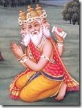 [Brahma praying to Krishna]