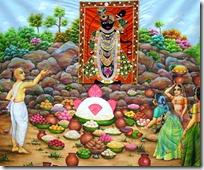 [worshipers of Govardhana Hill]