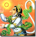 [Hanuman flying towards the sun]