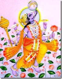 [Varahadeva holding up the earth]