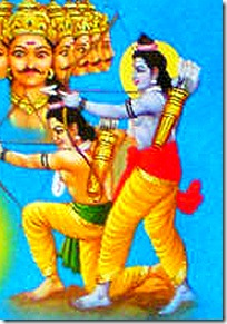 [Rama and Lakshmana firing arrows]