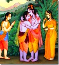 [Rama meeting Bharata]