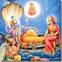 [Lord Vishnu lying down]
