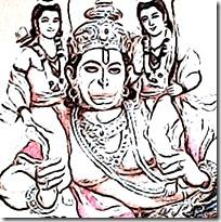 [Hanuman holding Rama and Lakshmana]