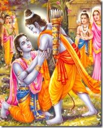 [Rama hugging Bharata]