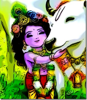 [Krishna with cow]