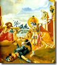[Krishna fighting Shalva]