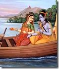 [Rama and Sita on boat]