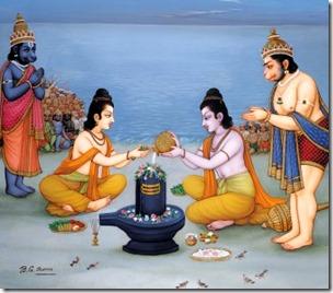 [Rama worshiping Shiva]