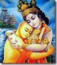 [Krishna hugging Chaitanya]