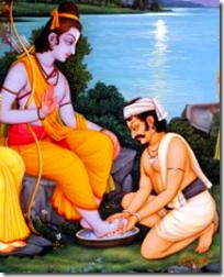 [Kewat washing Rama's feet]