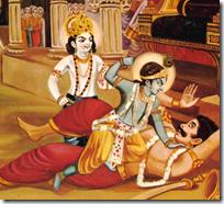 [Krishna punching Kamsa]