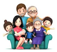 [Happy family]