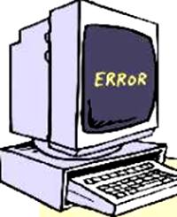 [Computer crashing]
