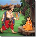 [Ravana threatening Sita]