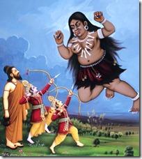 [Rama killing Tataka]