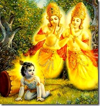 [Krishna with sons of Kuvera]