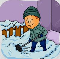 [shoveling snow]