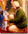 [Krishna bringing slippers]