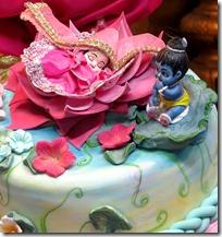 [Radha and Krishna on cake]