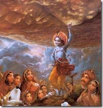 [Krishna holding hill]