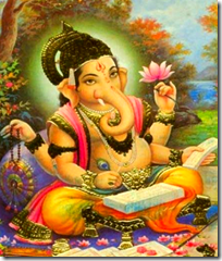 [Ganesha writing]