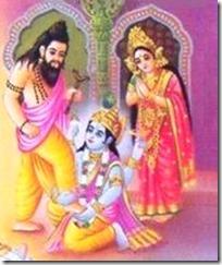 [Vishnu and Bhrigu]