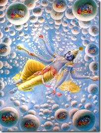 [Vishnu creating universes]