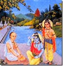 [Tulsidas meeting Rama and Lakshmana]