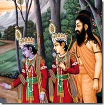 [Vishvamitra with Lakshmana and Rama]
